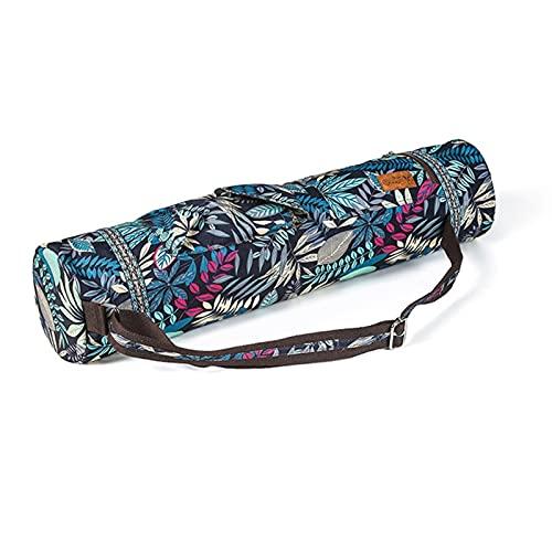 WGDPMGM Bolsas colchoneta Yoga Mochila de Estera de Fitness Grande Adecuado para Pilates Mat Bag Port Port Port Sports Mochila Impresa Cremallera Pocket Yoga Mat Bag (Color : Blue)