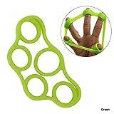Xiton 1 Pc Silicone Finger Grip Strengthener Anello Ginnico E Bande Di Resistenza Forza Allenatore Gripper Per Alleviare Il Polso Mani Dolorose Allenarsi E Esercizio Quotidiano(Verde/Livello 1)