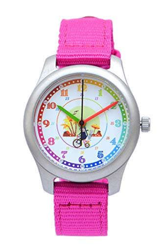 Reloj de Pulsera Educativo para niños (Rosa)