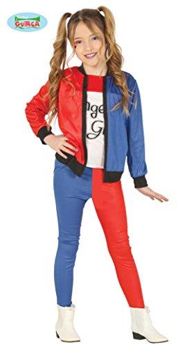 Guirca- The Joker Costume Bambina da Harley Quinn 5-6 Anni, Colore Bianco,Rosso,Blu E Nero, GU88450