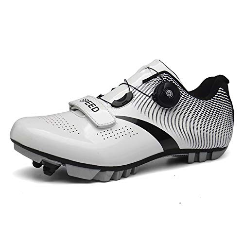 Calzado de ciclismo - Calzado de bicicleta de montaña de fibra de carbono compatible con tacos transpirables con candado Calzado de bloqueo de carretera Calzado de bicicleta de montaña General