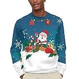 CHINEIN Men's Women's Lightweight Crewneck Sweater Big Teens Sweatshirt Xmas Chimney Santa Gives Gifts -7