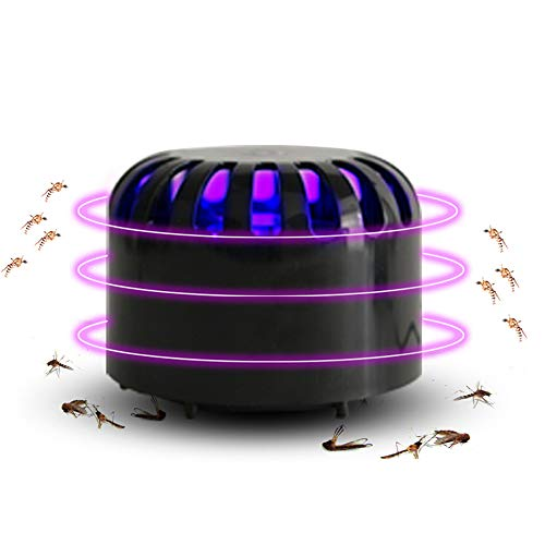 Lampe Anti moustiques,Moustique Tueur Lampe,Electrique Anti Insectes Répulsif,LED Insectes piège UV Insectes Volants Salon Maison Onde électrode intérieur Tueur Insectes Moustique avec Port USB