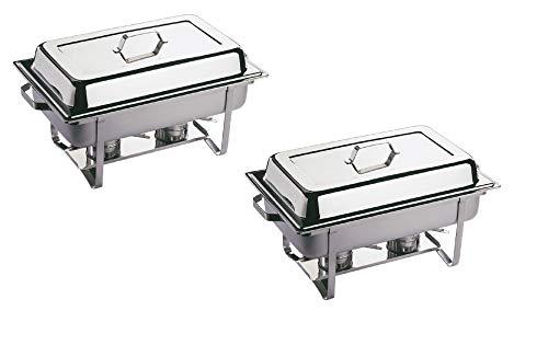 Profi SET 4x Chafing Dish 8x GN Behälter Warmhaltebehälter Speisewärmer