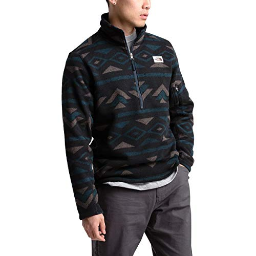 The North Face Men's Gordon Lyons Novelty 1/4 Zip, TNF Black California Geo Stripe Print, L