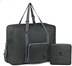 For Spirit Airlines Foldable Travel Duffel Bag Tote Carry on Luggage Sport Gym Duffle for Men and Women (Dark Grey)