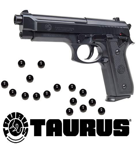 KOSxBO® Softair Pistole Taurus PT92 Federdruck inklusive 6mm Premium BB Munition 0,5 Joule Softair ab 14 Jahren