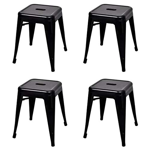 vidaXL Krukken stapelbaar 4 st staal zwart