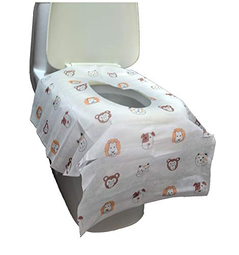 Disposable Toilet Seat Covers - Extra Large Size Perfect for Toddlers Potty Training and Great for Travel Both Kids and Adults (10)