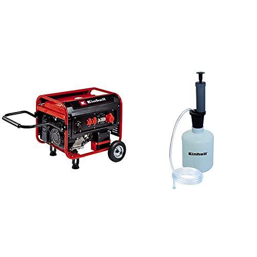 Einhell Stromerzeuger (Benzin) TC-PG 55/E5 (7.5 kW, max. 3300 W (bei 230 V), 389 cm³, 25 L Benzintank, 2x 230V & 1x 400V-Steckdose, Überlastschalter, AVR-/Ölmangelsicherung, inkl. Benzinabsaugpumpe)