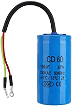 Run Capacitor, CD60 Run Capacitor with Wire Lead 250V AC 150uF 50/60Hz for Motor Air Compressor For Air Conditioners Compressors and Motors