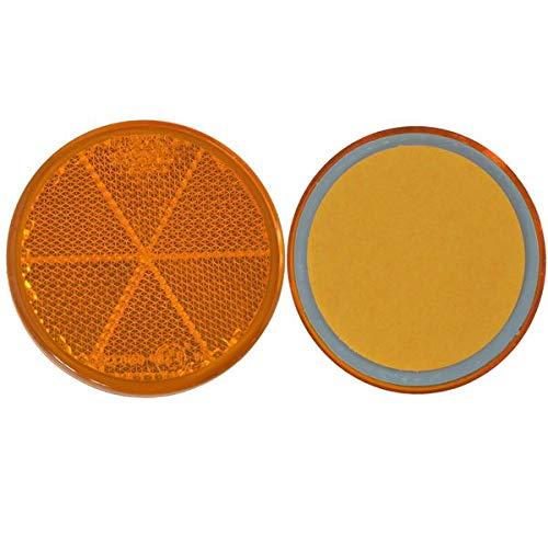FKAnhängerteile 8 x Spot – Réflecteur arrière – Collage – Ø 60 mm – Jaune – E de marque de contrôle