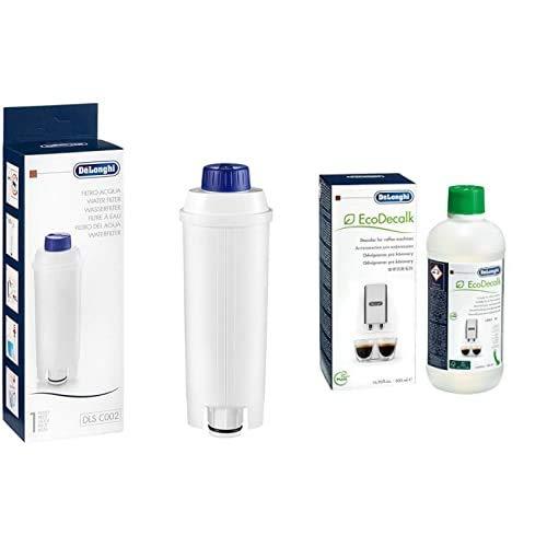De\'Longhi DLSC002 Filtro Addolcitore Ecam & ECODECALK Decalcificante Naturale, 500 ml