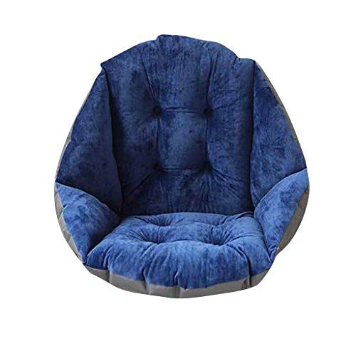 Cuscino Morbido con Schienale Forma a Conchiglia Pad Tutto Coperto Cuscino per Sedie da Giardino Poltrona Cuscino per Seggiolino Auto Blu Scuro