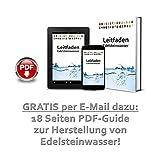 Premium Edelstein Basis-Mischung   100% Natursteine   Wassersteine-Set Grundmischung: Rosenquarz, Amethyst, Bergkristall - 7