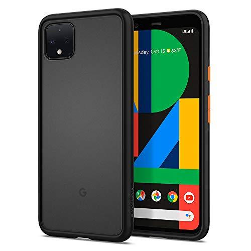 CYRILL von Spigen Color Brick kompatibel mit Google Pixel 4 XL Hülle, (2019) (6,3 Zoll) Matte Cover Halbtransparente Black PC rückseite mit Soft TPU - Schwarz