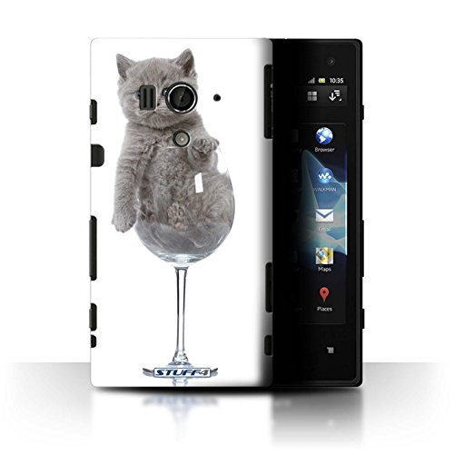 Var voor SGMN-CC Leuke Kittens Sony Xperia Acro S/LT26w Wijnglas