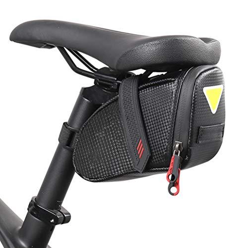 Yissma Bolsa de sillín de Bicicleta Bolsa de sillín de Bicicleta con Dos Cremalleras Debajo del Asiento Bolsa de sillín Impermeable para Bicicletas de Carretera de montaña