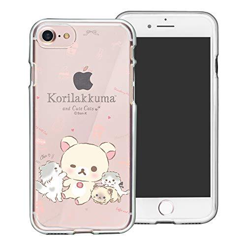 Compatible with iPhone SE 2020 / iPhone 8 / iPhone 7 Case (4.7inch) Rilakkuma Clear TPU Cute Soft Jelly Cover - Korilakkuma Cat