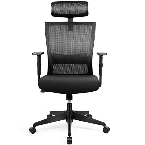 amzdeal Bürostuhl Ergonomischer Chefsessel Computerstuhl Schreibtischstuhl mit Einstellbarer...