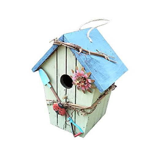 Fütterung Vogelhaus, hölzerne Handwerker Bird\'s Nest Vogel Nest Holz Vogelhaus Dekoration Outdoor Anhänger Flip Dach