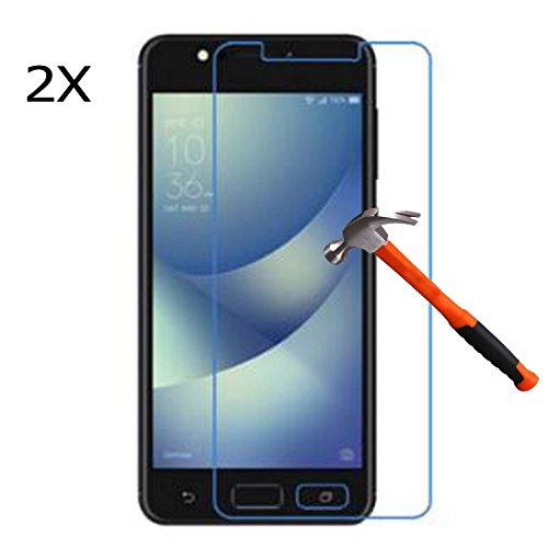 2x Tempered Glasfolie Schutzfolie für Asus ZenFone 4 Max ZC520KL Premium Screen Folie Protector Hartglas Bildschirmschutz Panzerfolie clear 9H