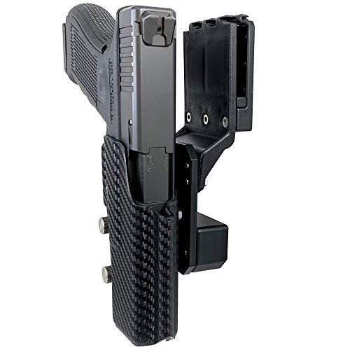 Professional Competition Holster OWB Kydex fits Glock 34, Glock 35; IPSC, USPSA, 3-Gun Approved, Adjustable in All Angles and Retention, Completely Legal in USPSA Production Division