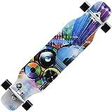 Monopatín Longboard Cruiser Completo Skateboard 42' completa tabla de patinar crucero de arce trucos de estilo libre combado doble Longboard Patín calle cepillo crucero for principiantes Niñas Niños N