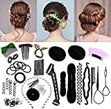 45PCS Hair Design Styling Accessory Hairpins Clip Donut Tool Kit...