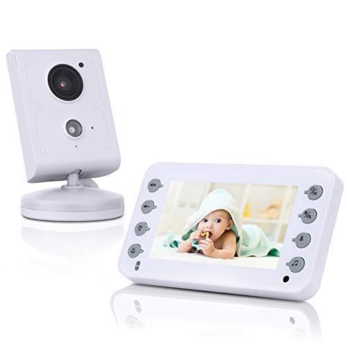 YZY videobabyfoon, 4,3-inch babyfoon met nachtzicht, tweeweg-gesprek, temperatuurbewaking en slaapliedjes.