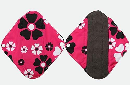 Holzkohle Bamboo Sanitary Pad, 6 Arten waschbar wiederverwendbare Slipeinlagen Anti-Fouling Menstruationskomfort Safe Tuch Pads(WSD19)