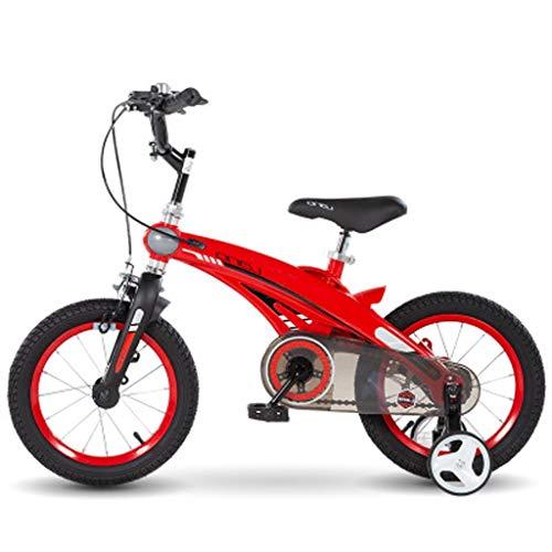 LDDLDG Kinderfahrrad Kinderfahrrad Ultralight Kinder 12-16 Zoll Studenten Radfahren Fahrrad-Geschenk for Jungen und Mädchen (Color : Red, Size : 16)