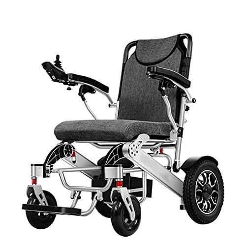 FGVDJ Scooters para Personas Mayores con discapacidades Silla de Ruedas eléctrica Plegable, Control Remoto Una tecla Plegable Puede abordar el avión 500W Potente Motor Sei