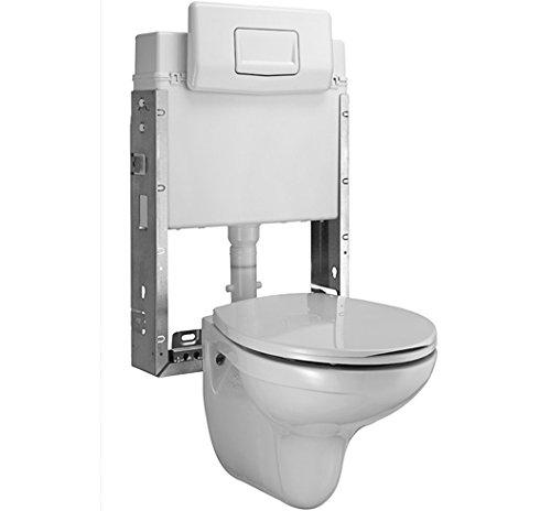 Ceravid, Wand WC Tiefspüler inkl. Unterputz Spülkasten 3/6 Liter im Set hänge WC, C73000000