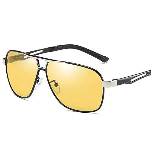 CCGSDJ Gafas De Sol Fotocromáticas para Hombres Piloto Gafas De Sol Polarizadas Retro Aviación Gafas De Visión Nocturna para Los Hombres Camaleón Gafas