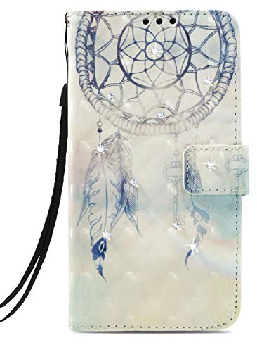 Wiitop Compatible with Apple iPhone 11 Pro Case 5.8inch 2019 Jewel Cover 3D PU Leather Wallet Flip Heavy Duty FullBody Protection Credit Card Slot Magnetic Closure Kickstand Accessories Dream Catchers