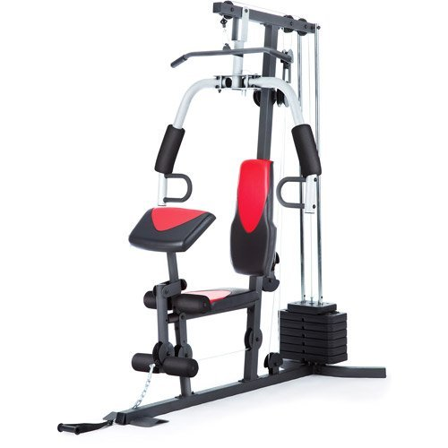 Home Gym Weider 214 lb Stack, 300 lbs, exercise chart, ankle strap, vinyl seats Nebraska
