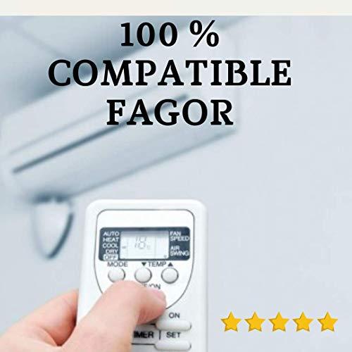 FAGOR - Mando Aire Acondicionado FAGOR - Mando a Distancia Compatible 100% con Aire Acondicionado FAGOR. Entrega en 24-48 Horas. FAGOR MANDO COMPATIBLE.