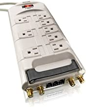 Philips GBR8PCS 8-Outlet Home Entertainment Surge Protector with 8-Foot Cord