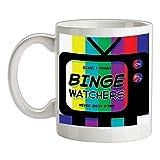 N\A Binge Watchers Tazza da caffè in Ceramica Bianca 11 Once