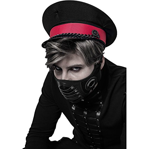 Punk Rave Black Gothic Punk Rock Death Metal Motorcycle Masquerade Mask for Men