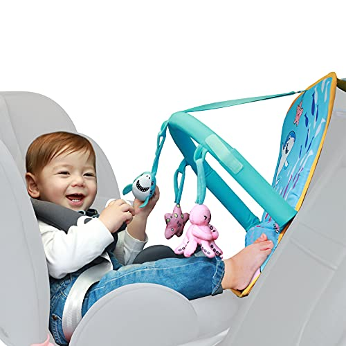 Car Seat Toys for Infants,Strap Adjustedable,Easy to Reach,Sensory Toy Perfect for 0-6-12 Months Babies Boy,Girl and Up Toddlers,Hanging Rear Carseat to Improve Baby Hands-on Ability and Keep Busy