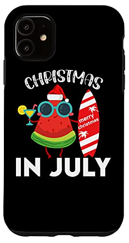 iPhone 11 Christmas In July 2021 Watermelon Xmas Tree Summer Case