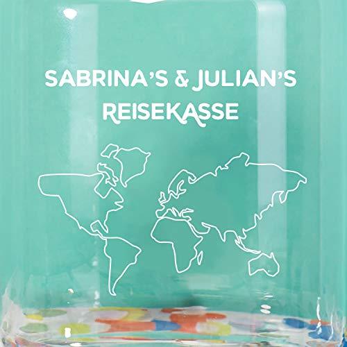 Geschenke.de Personalisierbares Keksglas Reisekasse mit Gravur – individuelle Reise Geschenkidee für Männer und Frauen oder für ausgefallene Geldgeschenke zur Hochzeit - 3