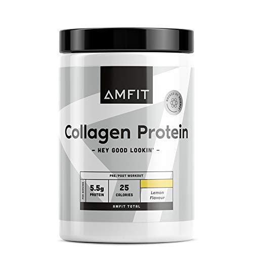 Marca Amazon - Amfit Nutrition Proteína de colágeno, sabor a limón, 454g (anteriormente PBN)