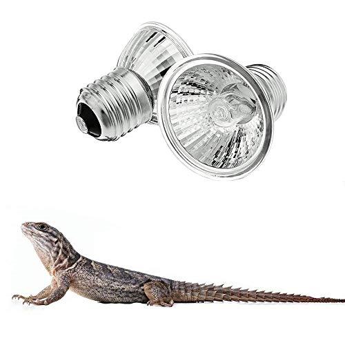 ZYZ 2 Stück UVA + UVB Vollspektrum Sonnenlampe Sonnenbaden Lampe Lampe Licht für Aquarium Lizard Reptile und Amphibienhabitat Wärme Beleuchtung