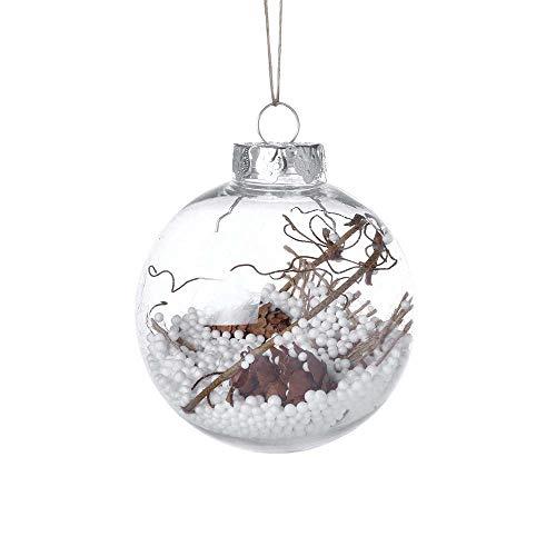 MerryWould Bolas de Navidad de 8cm - Bolas de Plástico Transparentes, Esferas Acrílicas para Decoración...