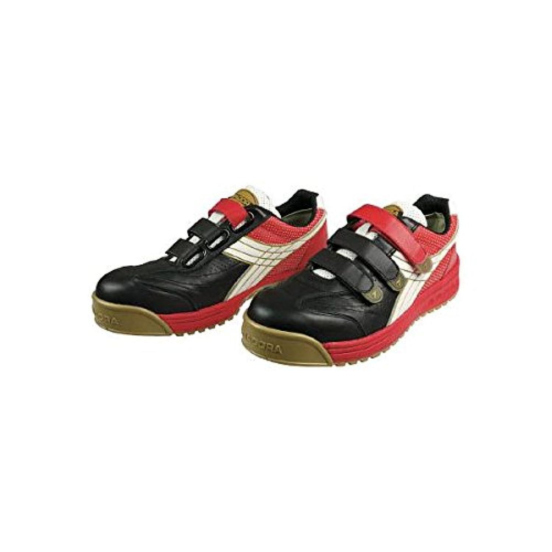 ドンケル ディアドラ安全作業靴ロビン黒/白/赤25.0cm RB213250