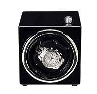 SASAMM 単一の自動ウォッチワインダー、非常に静かなモーターと5つの回転モード、男性と女性の自動腕時計のための調節可能な時計の枕 (Color : Black)