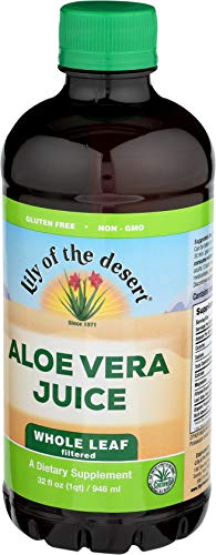Lily of The Desert Aloe Vera Supplement  Whole Leaf  2 Count